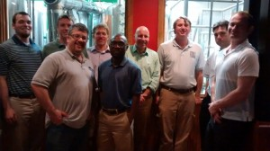ACRE affiliated faculty and staff with Dr. Gohmann at local brew house