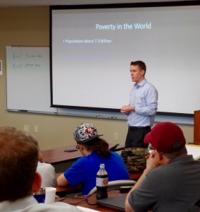 "ACRE Affiliated Scholar, Dr. Thomas Synder teaches students to ""Think about Liberty like an Economist"" during the weekend seminar."