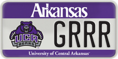 UCA License Plate