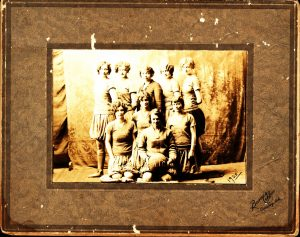 Constance Mitchell, back row center. ASTC State Champions, 1929.