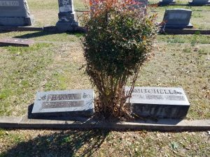 Burial plot of Dr. Ada Jane Harvey, Constance Mitchell, and Constance Mitchell's parents at The Historic Oak Grove Cemetery.