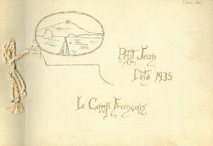 Anna Loe Russell's, Le Camp Français scrapbook.