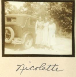 "Ada & Constance's car, dubbed ""Nicolette."""