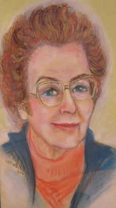 Portrait of Dorris Curtis by Gene Hatfield