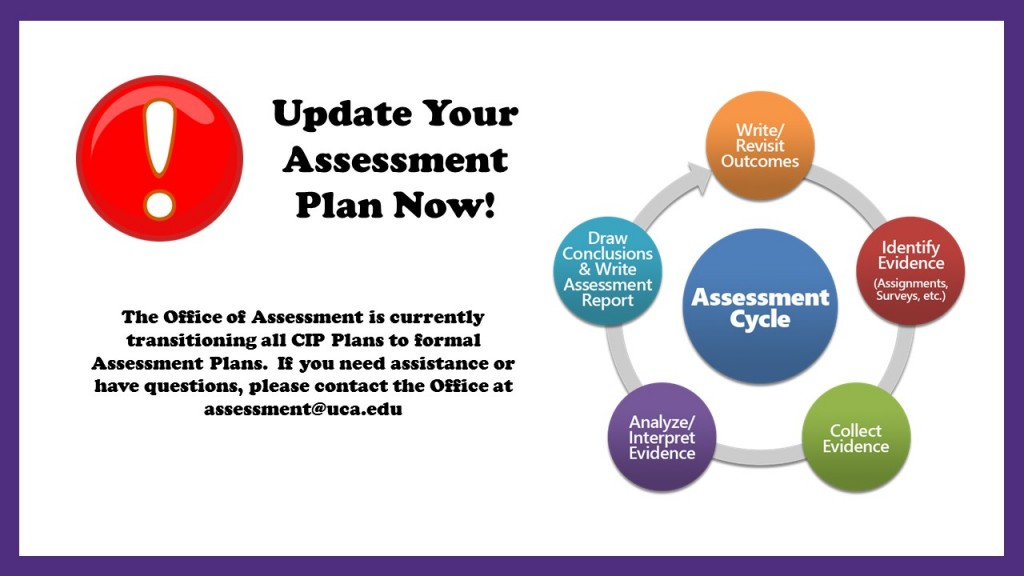 Assessment Plan Updates