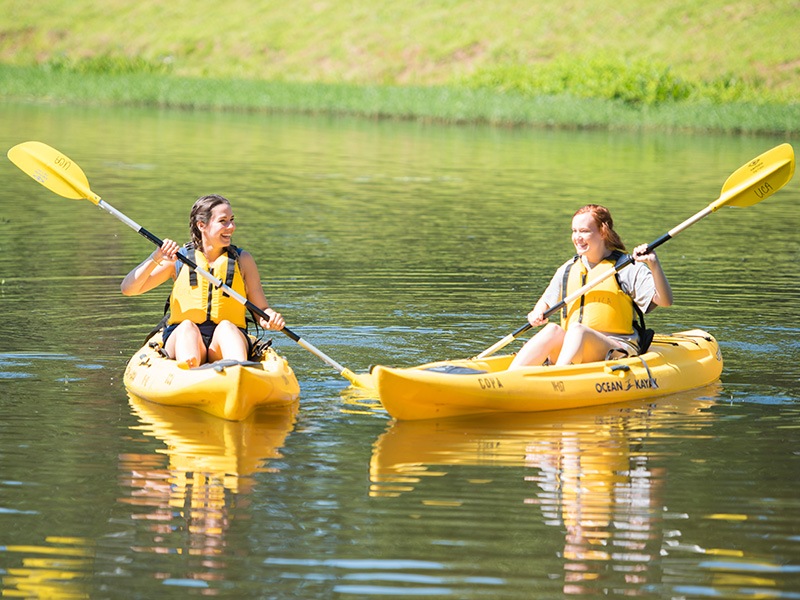 Students in Kayak