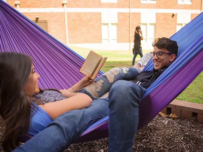 Students in Hammock