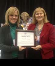 Mary Katherine Stein presents Dr. Debbie Dailey with AGATE's Challenger Award