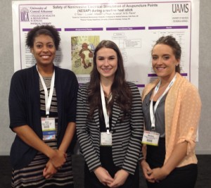 Third-year DPT students Alicia Austin, Lauren Floyd and Monique St. Pierre Pridgin present research at the Combined Sections Meeting