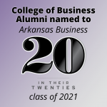 """Three UCA College of Business Alumni Named to Arkansas Business """"20 in Their 20s"""" List"""