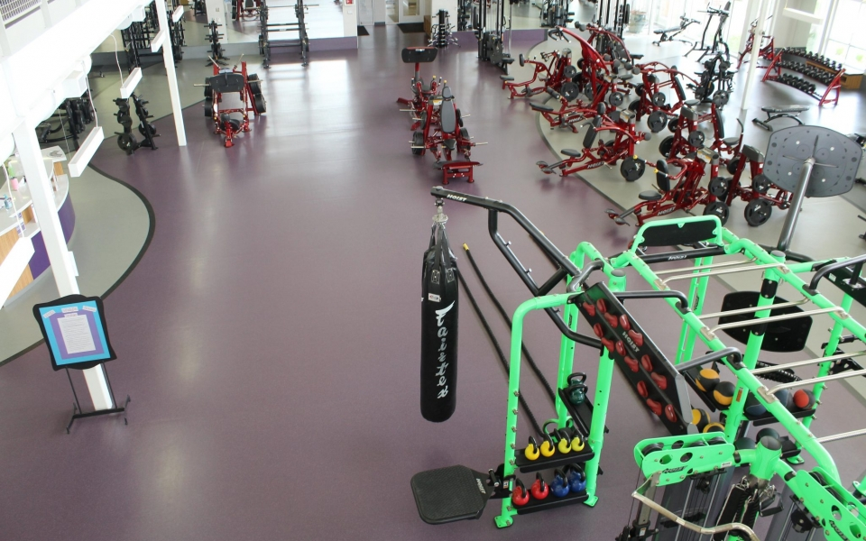 Weight Room From Balcony