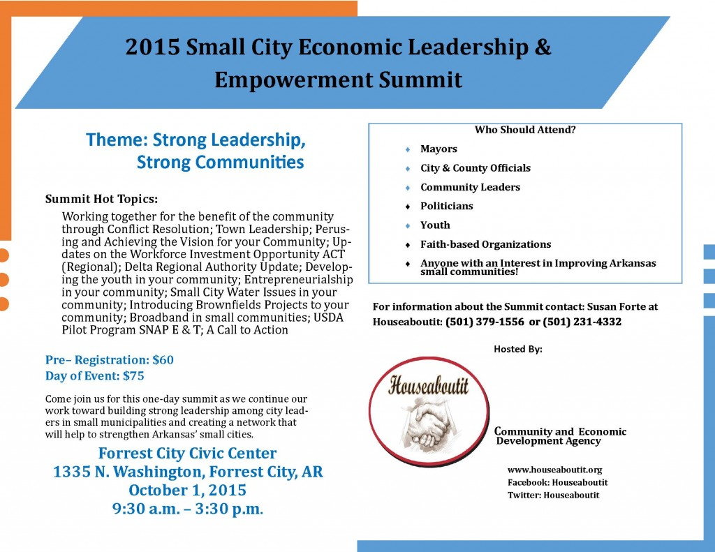 2015 Small City Summit postcard