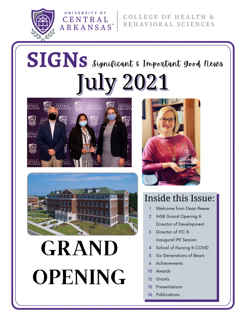 July 2021 SIGNs
