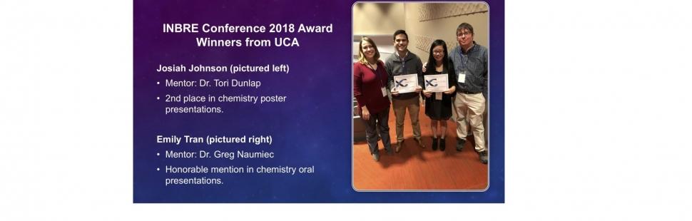 INBRE Award Winners 2018