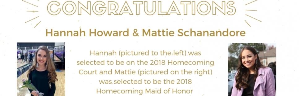 Mattie Schanandore and Hannah Howard (for Website Soliloquy)