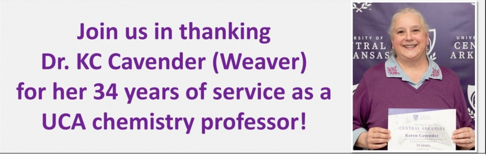 Cavender 34 years of service