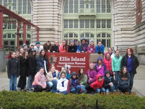 VOCA members toured Ellis Island while in NYC to sing at Carnegie Hall.