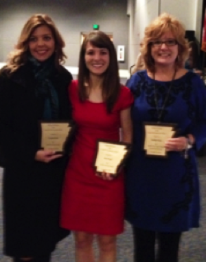 "AR CEC award winners from left to right:   Mary Margaret Scholtens, Kim Head, and Donna (""Dee Dee"") Cain"