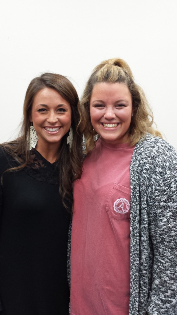 KDP Mentor of the Semester, Danielle Creswell, with intern Bethany Allen