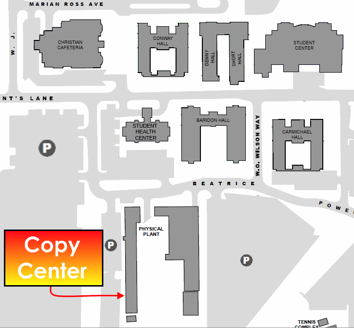 University Of Central Arkansas Campus Map.Uca Copy Center