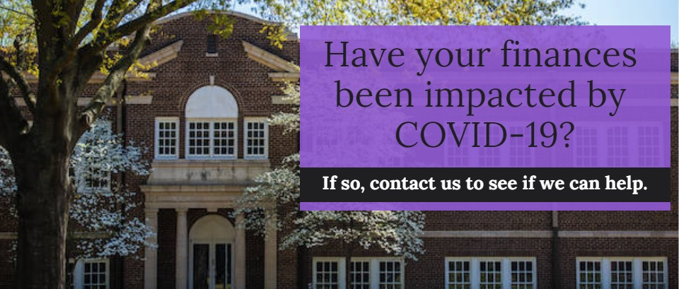 Impacted by COVID-19 financially?  Contact us.