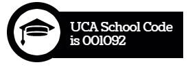 UCA School Code is 001092