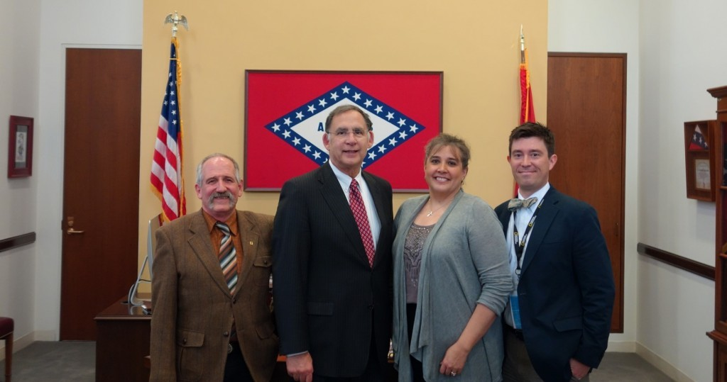 Geographers with Senator Boozman