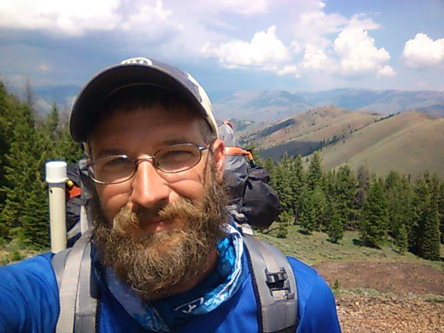 Jason Smith Hiking up 4th mountain in 4 days 9000ft