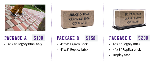 Legacy Brick Packages