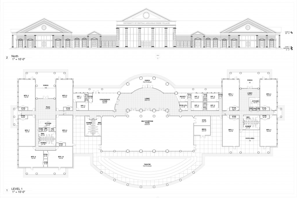 Community Center 1- PLAN ELEVATION