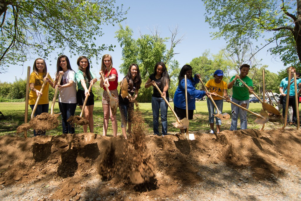 Sorority Chapter Representatives at the April 25, 2015 Ground Breaking