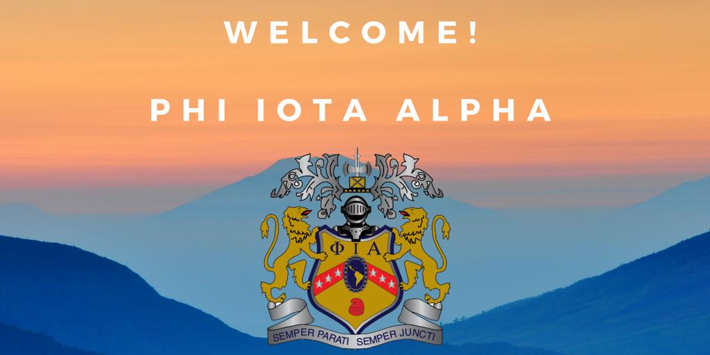 WelcomePhi Iota Alpha