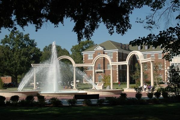 Harding Centennial Fountain at UCA