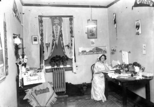 Interior of Doyne Hall c1915
