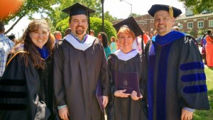 Dr. Wendy Lucas - History Department Chair, Matt Millsap, Aryn Denette, and Dr. Michael Rosenow - History Graduate Advisor