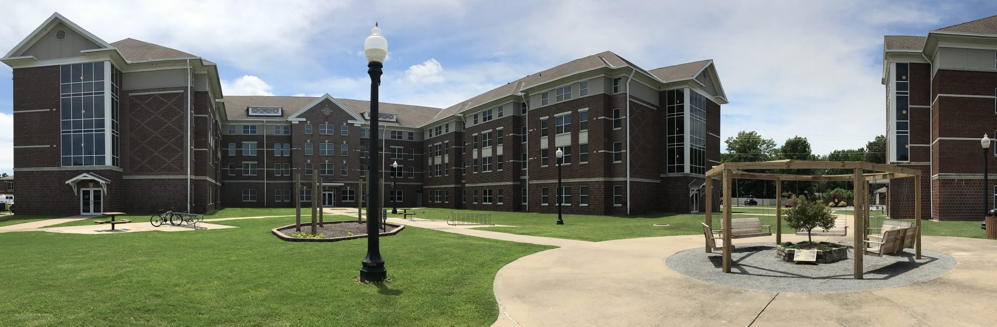 Farris Hall courtyard