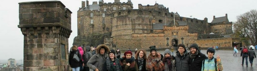 Honors students on a TAG-funded trip abroad
