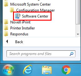Installing applications with Software Center
