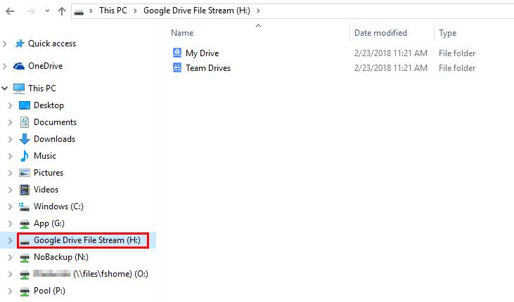 Installing Google Drive File Stream