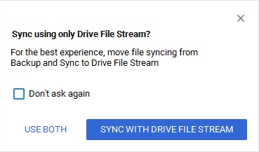 how to use google drive file stream