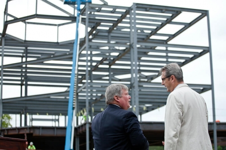 Donaghey Hall Topping Out Ceremony