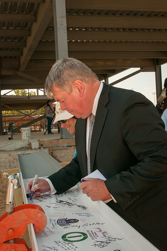 Conway Corporation Center for Sciences Topping Out Ceremony