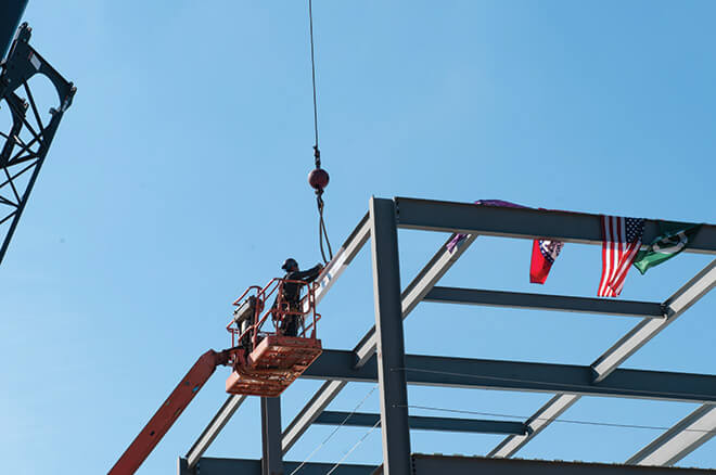 Conway Corporation Center for Sciences Topping Out