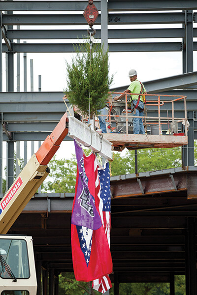 Donaghey Hall Topping Out