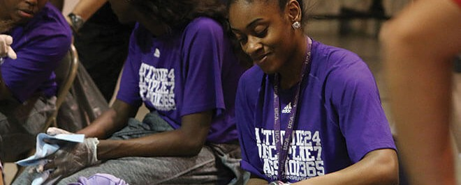 UCA Student-Athletes Providing Smiles to Children in Need