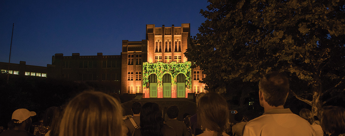 Imagine If Buildings Could Talk Projection