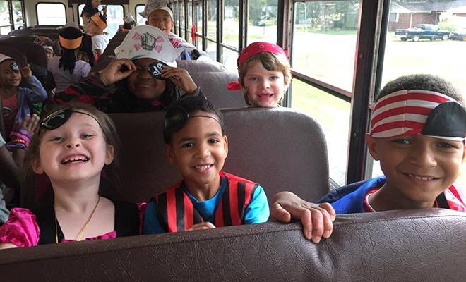 Main Stage EdUCAation Children on Bus