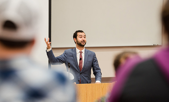 Mouaz Moustafa Speaking