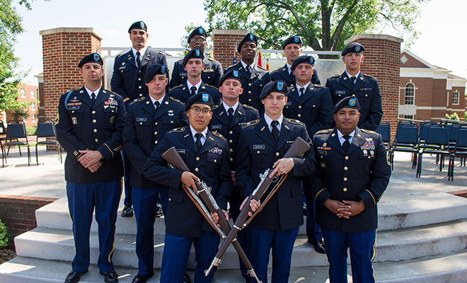 UCA's Army ROTC hosts contracting ceremonies twice a year to symbolize a student's commitment to service in the U.S. Army after graduation.