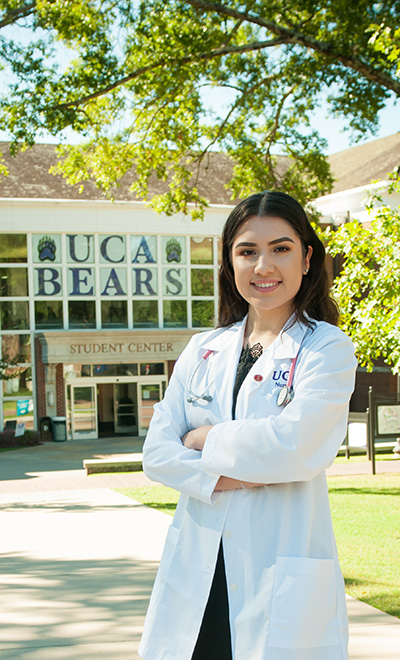 Sophomore nursing major Suleima Gomez is a 2018 recipient of the Arch Ford scholarship.